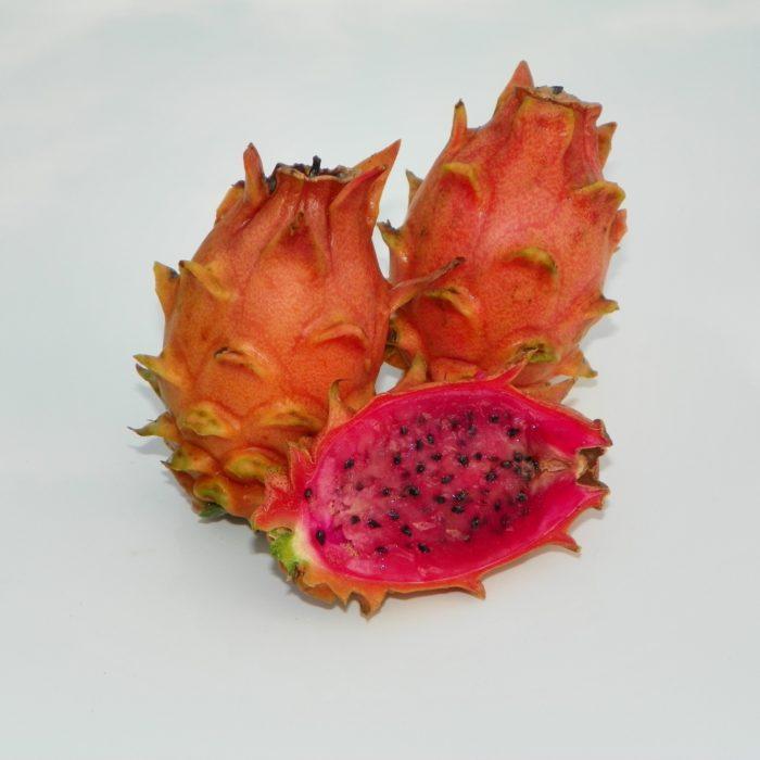 Dragon Fruit variety Frankies Red fruit sliced