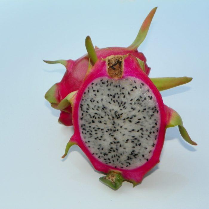 Hylocereus peruviaus Dragon Fruit fruit sliced