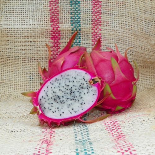 Dragon Fruit variety Thai Dragon fruit sliced