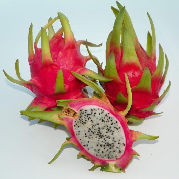 Dragon Fruit variety Thomson fruit sliced