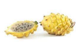 Yellow Dragon Dragon Fruit variety sliced